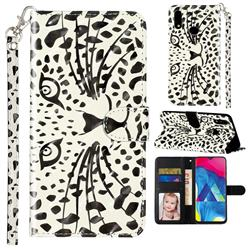 Leopard Panther 3D Leather Phone Holster Wallet Case for Samsung Galaxy A10s