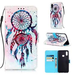ColorDrops Wind Chimes 3D Painted Leather Wallet Case for Samsung Galaxy A10s