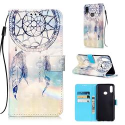 Fantasy Campanula 3D Painted Leather Wallet Case for Samsung Galaxy A10s