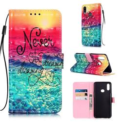 Colorful Dream Catcher 3D Painted Leather Wallet Case for Samsung Galaxy A10s