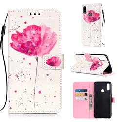 Watercolor 3D Painted Leather Wallet Case for Samsung Galaxy A10s