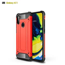 King Kong Armor Premium Shockproof Dual Layer Rugged Hard Cover for Samsung Galaxy A11 - Big Red