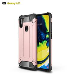 King Kong Armor Premium Shockproof Dual Layer Rugged Hard Cover for Samsung Galaxy A11 - Rose Gold