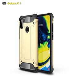 King Kong Armor Premium Shockproof Dual Layer Rugged Hard Cover for Samsung Galaxy A11 - Champagne Gold