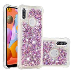 Dynamic Liquid Glitter Sand Quicksand Star TPU Case for Samsung Galaxy A11 - Rose