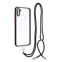 Necklace Cross-body Lanyard Strap Cord Phone Case Cover for Samsung Galaxy A11 - Black