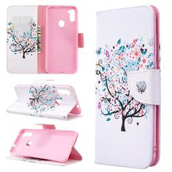 Colorful Tree Leather Wallet Case for Samsung Galaxy A11