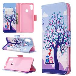 Tree and Owls Leather Wallet Case for Samsung Galaxy A11