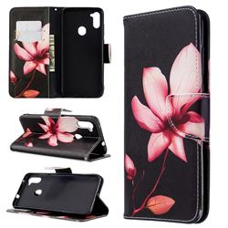 Lotus Flower Leather Wallet Case for Samsung Galaxy A11