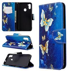 Golden Butterflies Leather Wallet Case for Samsung Galaxy A11