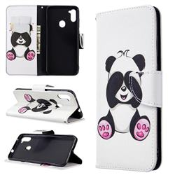Lovely Panda Leather Wallet Case for Samsung Galaxy A11
