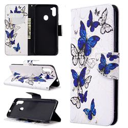 Flying Butterflies Leather Wallet Case for Samsung Galaxy A11
