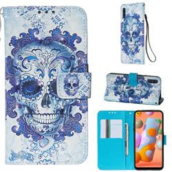 Cloud Kito 3D Painted Leather Wallet Case for Samsung Galaxy A11