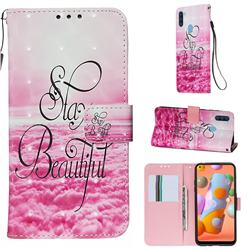 Beautiful 3D Painted Leather Wallet Case for Samsung Galaxy A11