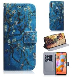 Apricot Tree PU Leather Wallet Case for Samsung Galaxy A11