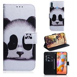 Sleeping Panda PU Leather Wallet Case for Samsung Galaxy A11