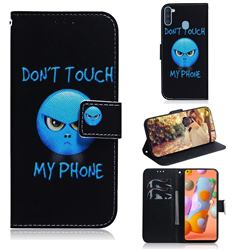 Not Touch My Phone PU Leather Wallet Case for Samsung Galaxy A11