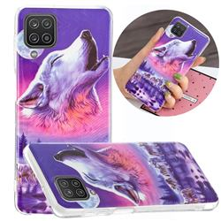 Wolf Howling Noctilucent Soft TPU Back Cover for Samsung Galaxy A12