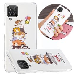 Cute Cat Noctilucent Soft TPU Back Cover for Samsung Galaxy A12