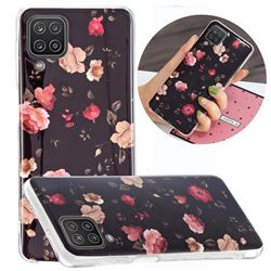Rose Flower Noctilucent Soft TPU Back Cover for Samsung Galaxy A12