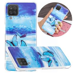 Flying Butterflies Noctilucent Soft TPU Back Cover for Samsung Galaxy A12