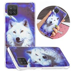 Galaxy Wolf Noctilucent Soft TPU Back Cover for Samsung Galaxy A12