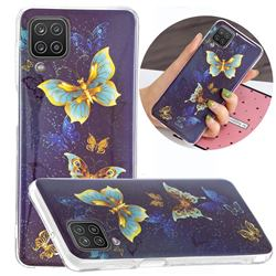 Golden Butterflies Noctilucent Soft TPU Back Cover for Samsung Galaxy A12