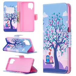 Tree and Owls Leather Wallet Case for Samsung Galaxy A12