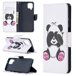 Lovely Panda Leather Wallet Case for Samsung Galaxy A12