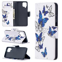 Flying Butterflies Leather Wallet Case for Samsung Galaxy A12