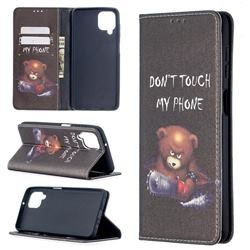 Chainsaw Bear Slim Magnetic Attraction Wallet Flip Cover for Samsung Galaxy A12