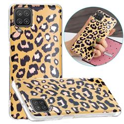 Leopard Galvanized Rose Gold Marble Phone Back Cover for Samsung Galaxy A12