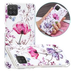 Magnolia Painted Galvanized Electroplating Soft Phone Case Cover for Samsung Galaxy A12