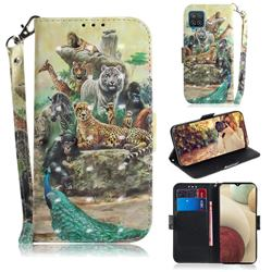 Beast Zoo 3D Painted Leather Wallet Phone Case for Samsung Galaxy A12