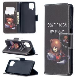 Chainsaw Bear Leather Wallet Case for Samsung Galaxy A12