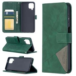 Binfen Color BF05 Prismatic Slim Wallet Flip Cover for Samsung Galaxy A12 - Green