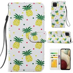 Pineapple Smooth Leather Phone Wallet Case for Samsung Galaxy A12