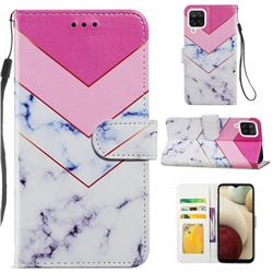 Smoke Marble Smooth Leather Phone Wallet Case for Samsung Galaxy A12