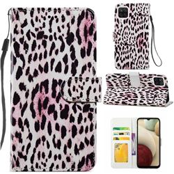 Leopard Smooth Leather Phone Wallet Case for Samsung Galaxy A12