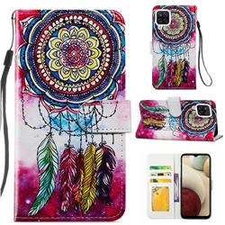 Dreamcatcher Smooth Leather Phone Wallet Case for Samsung Galaxy A12