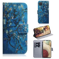 Apricot Tree PU Leather Wallet Case for Samsung Galaxy A12