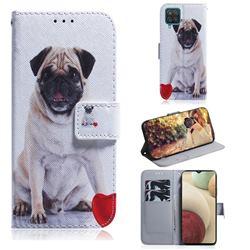 Pug Dog PU Leather Wallet Case for Samsung Galaxy A12