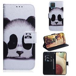 Sleeping Panda PU Leather Wallet Case for Samsung Galaxy A12