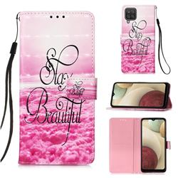 Beautiful 3D Painted Leather Wallet Case for Samsung Galaxy A12