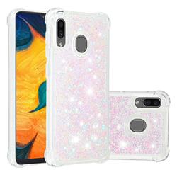 Dynamic Liquid Glitter Sand Quicksand Star TPU Case for Samsung Galaxy A20 - Pink