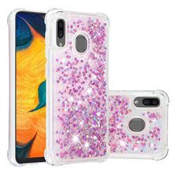 Dynamic Liquid Glitter Sand Quicksand Star TPU Case for Samsung Galaxy A20 - Rose
