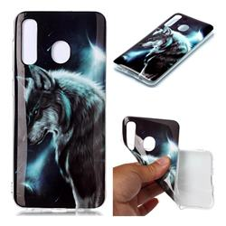 Fierce Wolf Soft TPU Cell Phone Back Cover for Samsung Galaxy A20
