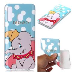Dumbo Elephant Soft TPU Cell Phone Back Cover for Samsung Galaxy A20