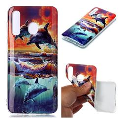 Flying Dolphin Soft TPU Cell Phone Back Cover for Samsung Galaxy A20