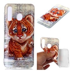 Cute Tiger Baby Soft TPU Cell Phone Back Cover for Samsung Galaxy A20